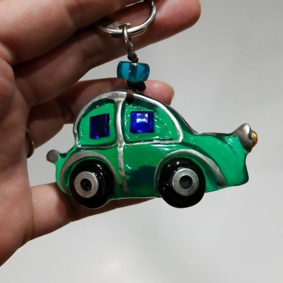 Rare Volkswagen Beetle Orna Lalo OOAK keychain